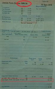 RM0の電気料金請求書