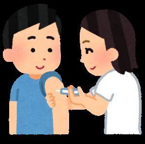 予防接種する男性