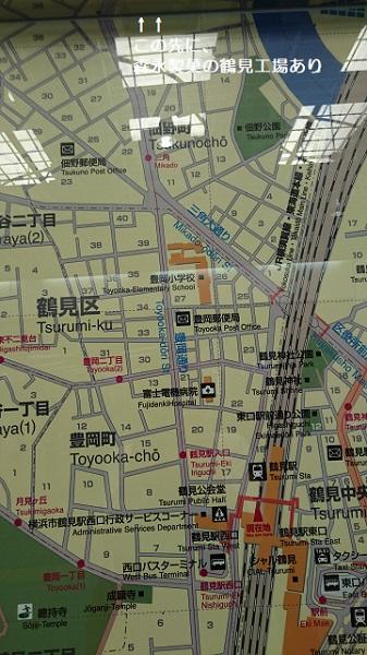 鶴見駅周辺案内地図