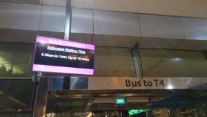 T4 へのシャトルバス ピックアップポイント