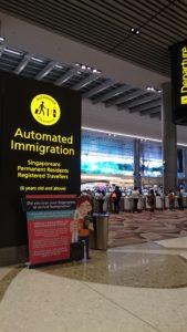 チャンギ国際空港 T4 イミグレ