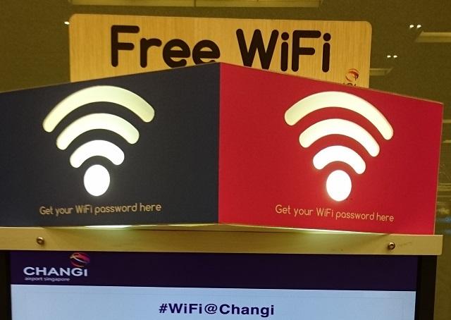 チャンギ空港free wifi