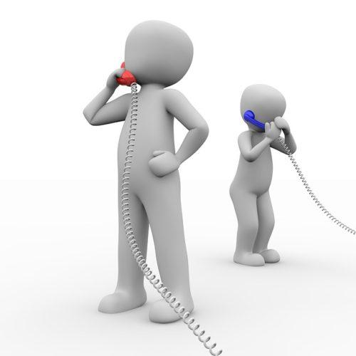 コールセンターへの電話