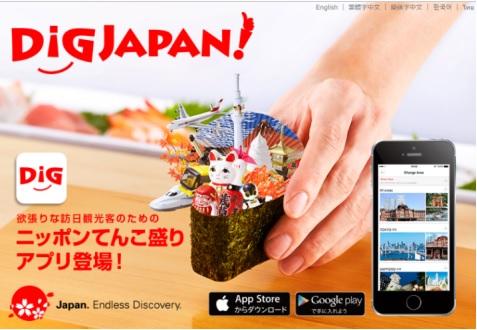 来日外国人向けアプリ『DIGJAPAN』