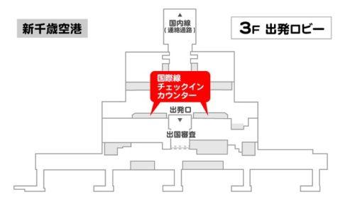 エアアジア札幌チェックインカウンター