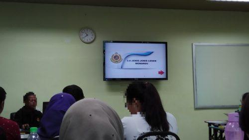 マレーシアの自動車免許 学科教習